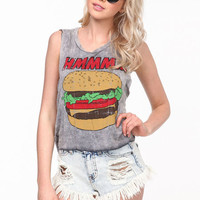 HAMBURGER ACID WASH TEE