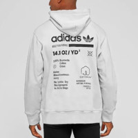 Adidas New fashion bust embroidery letter and back letter print men thick keep warm loose leisure hooded long sleeve top White