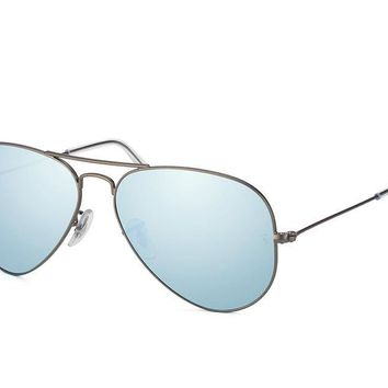 Cheap RAY-BAN RB3025 AVIATOR SUNGLASS MATTE-GUNMETAL 029/30 58MM, MEDIUM silver mirror outlet