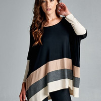 Knit Color Block- **SIZE LARGE ONLY**