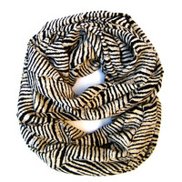 Cute Tiger Infinity Scarf I LOVE TIGERS Tiger Lover Scarf Black Cream Brown Scarf Animal Lover Scarf Trendy Tiger Scarf