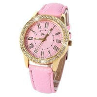 LADIES PINK ICEY WATCH