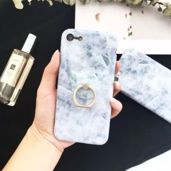 Simple Blue Crystal Pattern Iphone 7 7Plus &6 6S Plus Cover Case + Nice Gift Box