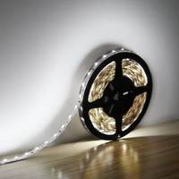 LE® 16.4ft 12V Flexible LED Strip Lights, 6000K Daylight White, 82 Lumens / 1.5 Watts per foot, 300 Units 3528 LEDs, Non-waterproof, Light Strips, LED Tape, Pack of 16.4ft/5m