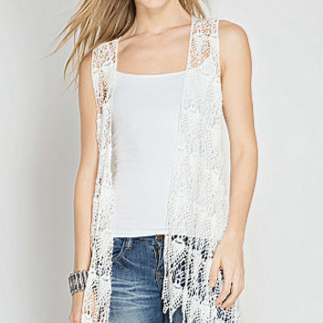 Stay For Awhile Vest - White