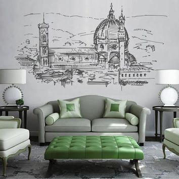 ik2528 Wall Decal Sticker Florence Italy city view bedroom living room