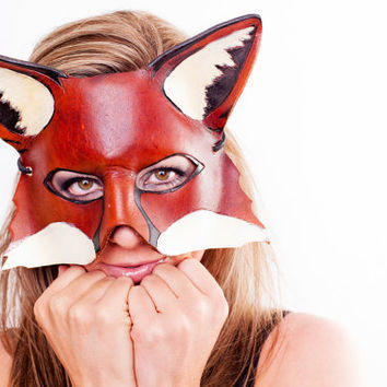 Fox Hunt - Handmade Leather Mask