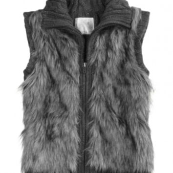 Faux Fur Vest Cardigan | Girls Sweaters Clothes | Shop Justice
