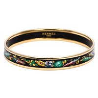 Hermès Vintage Perfume Bottle Enamel Bangle - Bella Bag - Farfetch.com