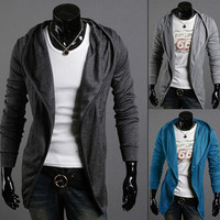T-shirts Men Slim Hats Long Sleeve Jacket [6528873091]