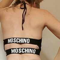 Reworked moschino style crop top