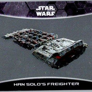 2016 Star Wars The Force Awakens Chrome Ships and Vehicles #11 Han Solo's Freighter
