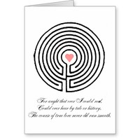 Love labyrinth - Valentine's Day Greeting Card