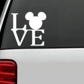 Mickey Mouse Love Vinyl Sticker Decal Car Truck Windon Wall Laptop notebook