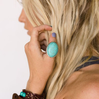 Silver & Turquoise Layering Rings