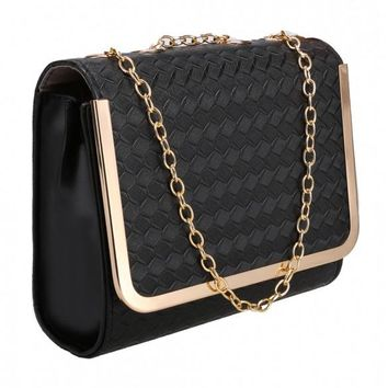 Candy Color Women Synthetic Leather Shoulder Chain Strap Casual Small Bag Messenger Tote