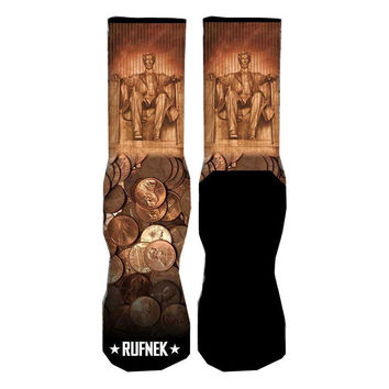Rufnek Hardware Custom Abe Lincoln Copper Socks