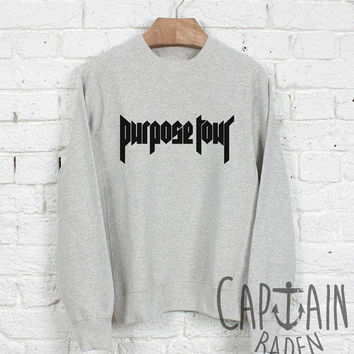 Justin bieber sweatshirt purpose tour unisex sweatshirts