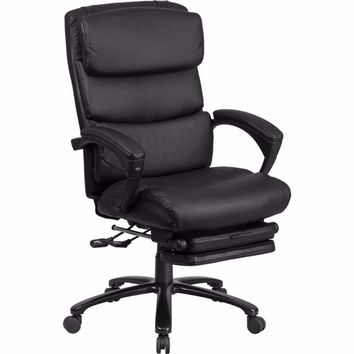 High Back Black Leather Executive Reclining Swivel Office Chair [BT-90519H-GG]