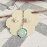 Tiny Anchor in Mint from the Blue piano