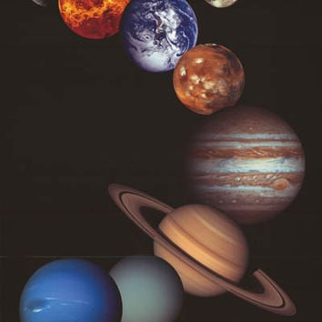 The Eight Planets Solar System NASA Poster 24x36