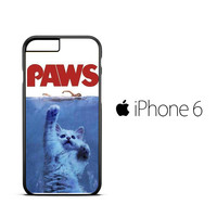PAWS OVIE PARODY FUNNY CAT ATTACK F0586 iPhone 6 Case