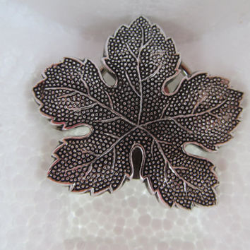 Maple Leaf clip, Designer West Germany, vintage clip Brooch