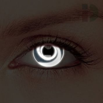 iD Lenses White Swirl Glow In The Dark Contacts