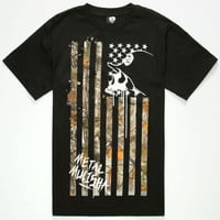 Metal Mulisha Realtree Lost Flag Mens T-Shirt Black  In Sizes
