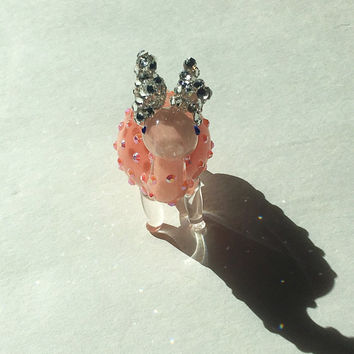 "4"" long Bling little creature with swarovski element ears"