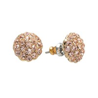 LC Lauren Conrad Button Stud Earrings (Pink)