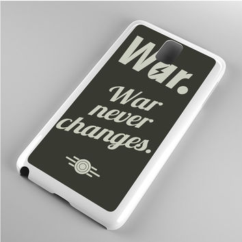 fallout 4 war never changes poster Note 3 Case