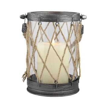 Stonebriar Collection Small Nautical Lantern (Vintage Zinc)