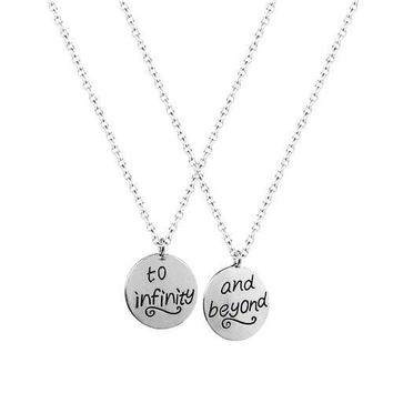 Infinity Best Friends 2 PC Chain Charm Necklace SET
