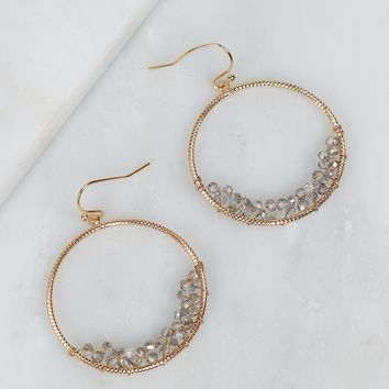 Textured Hoop Gold/Grey