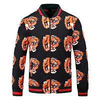 GUCCI autumn stand collar high-end men's jacket tiger head print trend jacket F-A00FS-GJ