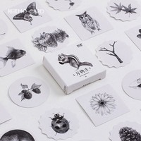 45 pcs/box MO.CARD Natural biological paper sticker decora diy diary scrapbooking sealing sticker children favorite stationery