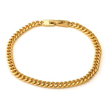 The 5mm, Stainless Steel Miami Cuban Chain Bracelet