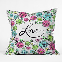 Lisa Argyropoulos Love Blooms Pastel Outdoor Throw Pillow