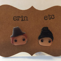 Handmade Plastic Fandom Earrings - Once Upon A Time - Zelena & Regina