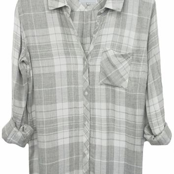 Rails Hunter Plaid Shirt in Smoke/White