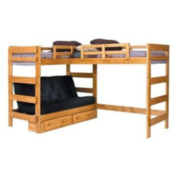 Woodcrest Heartland Futon Bunk Bed With Extra Loft