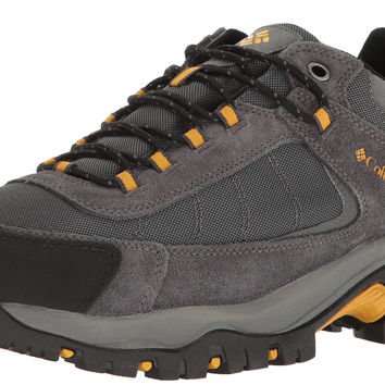 Columbia Men's Granite Ridge Waterproof Hiking Shoe Dark Grey, Golden Yellow 14 D(M) US '