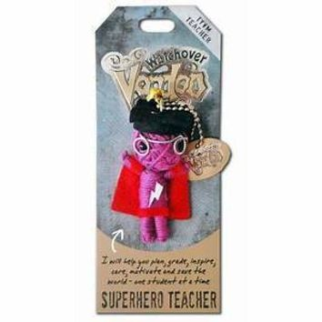 Watchover Voodoo Doll Superhero Teacher Keychain