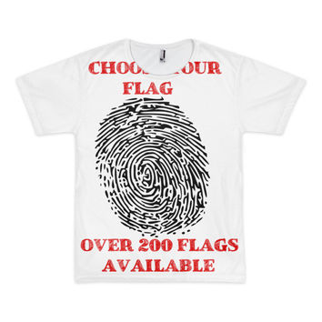 Custom Flag Order - American Apparel Short Sleeve Shirt