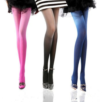 Ultrathin Sexy Women Tights Stockings 80 Denier Velvet Pantyhose Color Silk Stockings Female Stocking Thin leg stockings