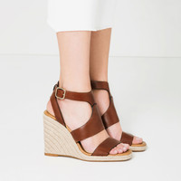 WEDGES WITH ANKLE STRAP - Sandals-SHOES-WOMAN | ZARA United Kingdom