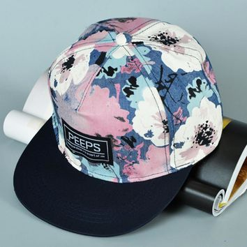 Trendy Winter Jacket Fashion Unisex Men's women Adjustable Baseball Cap Hip Hop hat Cool Floral Print Dancing Boys Girls Baseball Cap AT_92_12