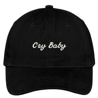 CRY BABY Embroidered Adjustable Cotton Cap - 5 Colors! (TXT705-SAN-CP77)