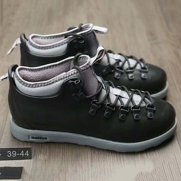 Native Fitzsmmons boots for men shoes waterproof Martin boots lovers Black+Grey G-A0-HXYDXPF